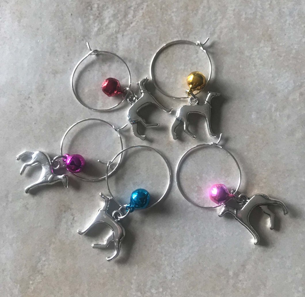 Greyhound Wine Charms
