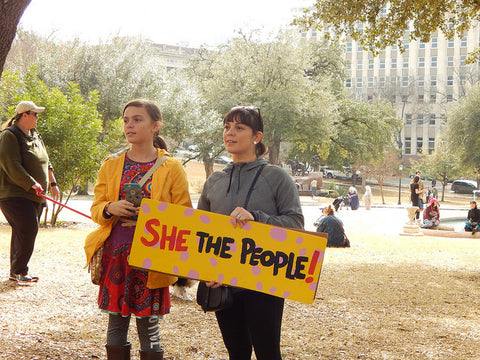 She the People Protest Sign Photo by  Jane Hammons in Austin TX