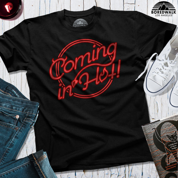 Boredwalk Coming In Hot Devil Satan Lucifer Shirt