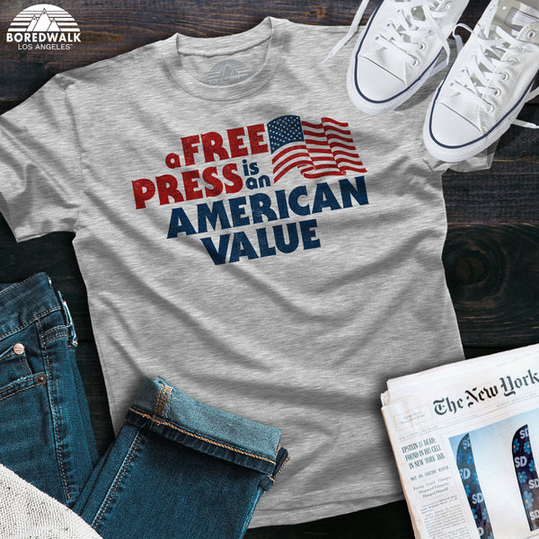 Boredwalk A Free Press Is An American Value Shirt