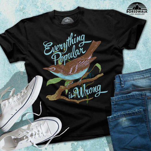 Boredwalk Everything Popular Is Wrong Oscar Wilde Quote Shirt
