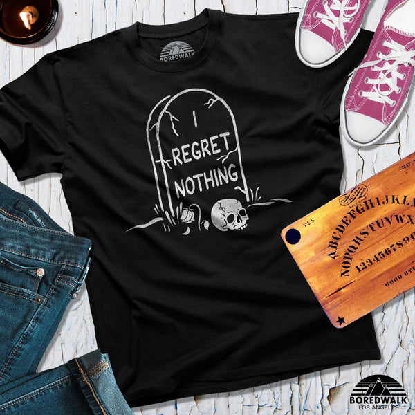 Boredwalk I Regret Nothing Tombstone Shirt