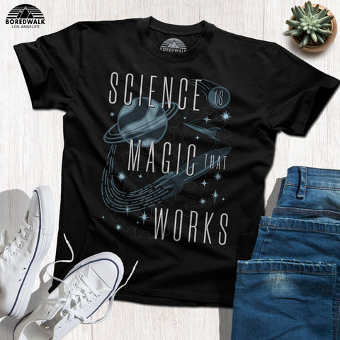 Boredwalk Science Is Magic That Works Kurt Vonnegut Quote Shirt