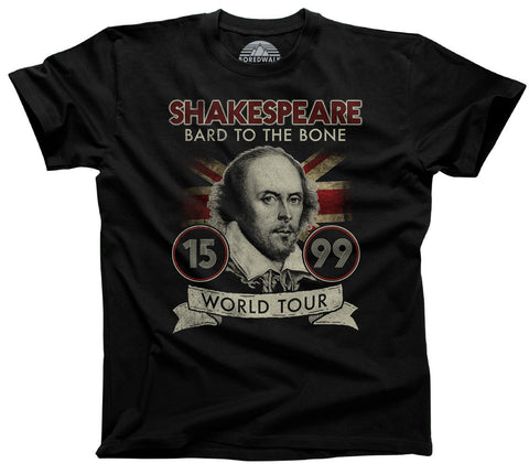 Bard to the Bone Grunge Rock and Roll Shakespeare Shirt