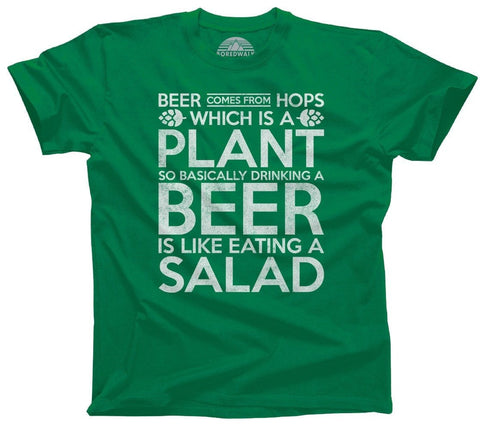 Drinking Beer is Like Eating Salad - Funny Beer Shirt