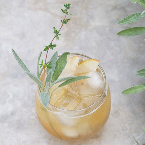 Bourbon Spiced Pear Cocktail