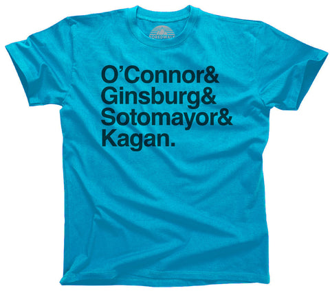 O'Connor GInsburg Sotomayor Kagan Female Supreme Court Justices Shirt