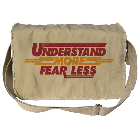 Understand More Fear Less Scientist Messenger Bag