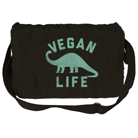 Vegan Life Dinosaur Messenger Bag