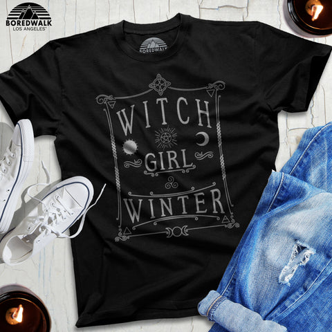 Witch Girl Winter Shirt