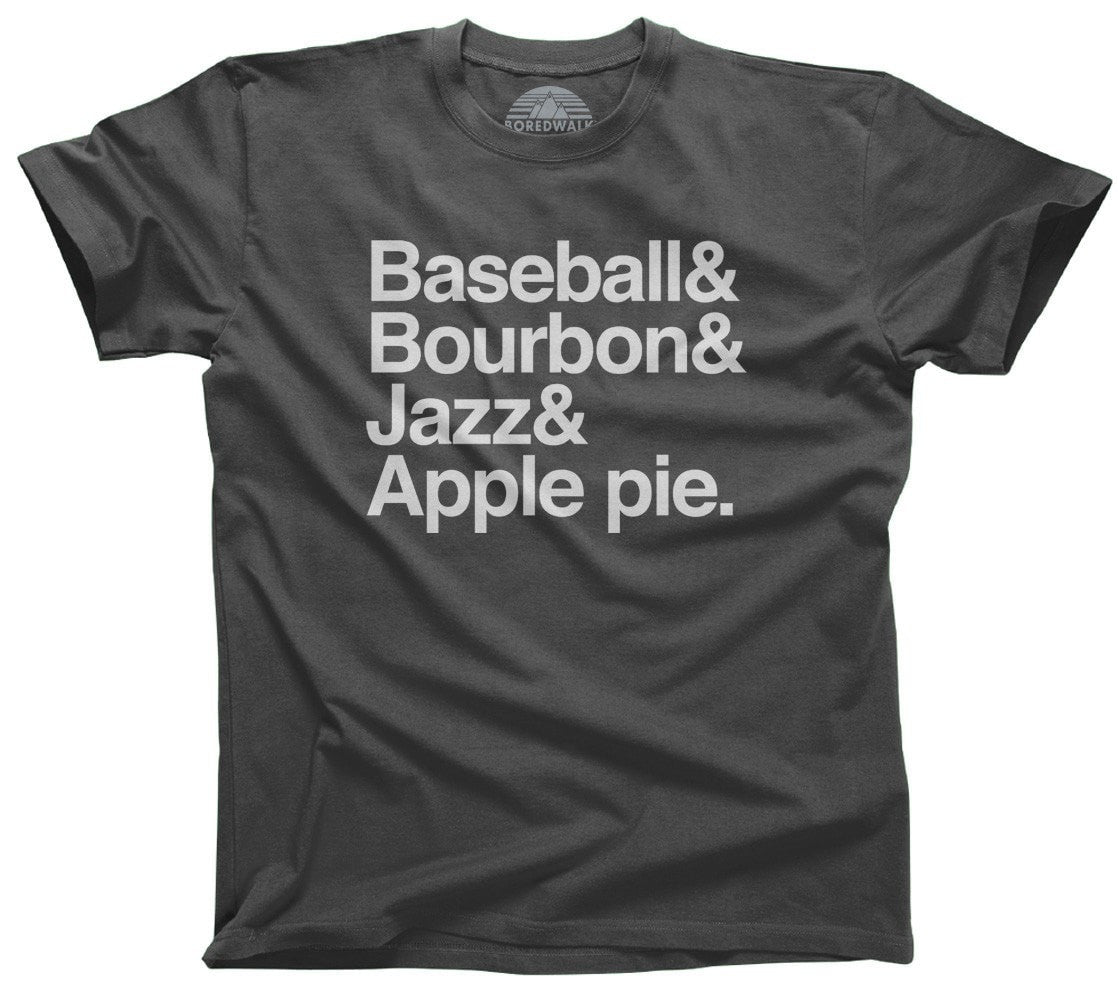 Men's Baseball Bourbon Jazz Apple Pie T-Shirt 'Murica T-Shirt