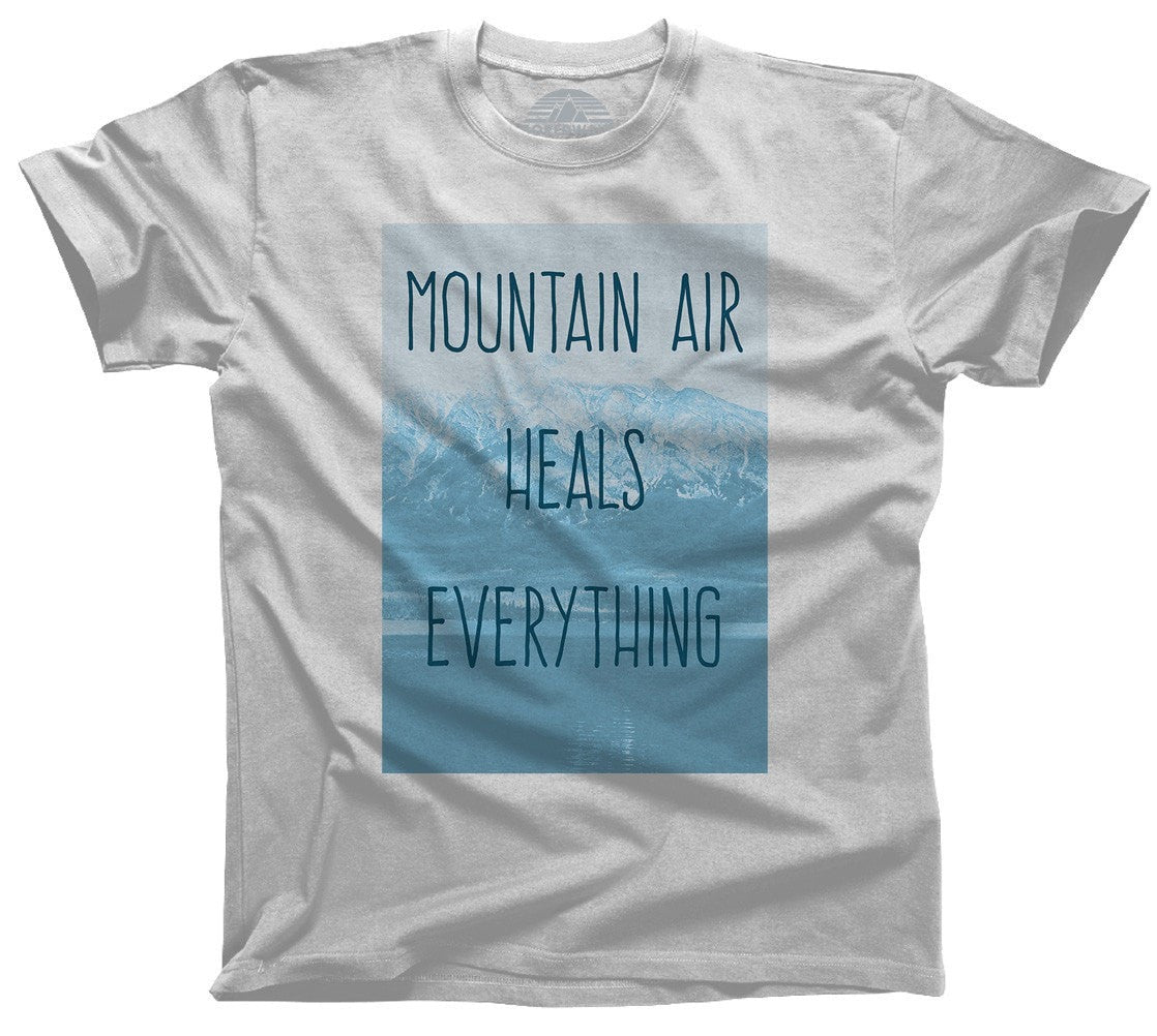 Men's Mountain Air Heals Everything T-Shirt Camping Hiking