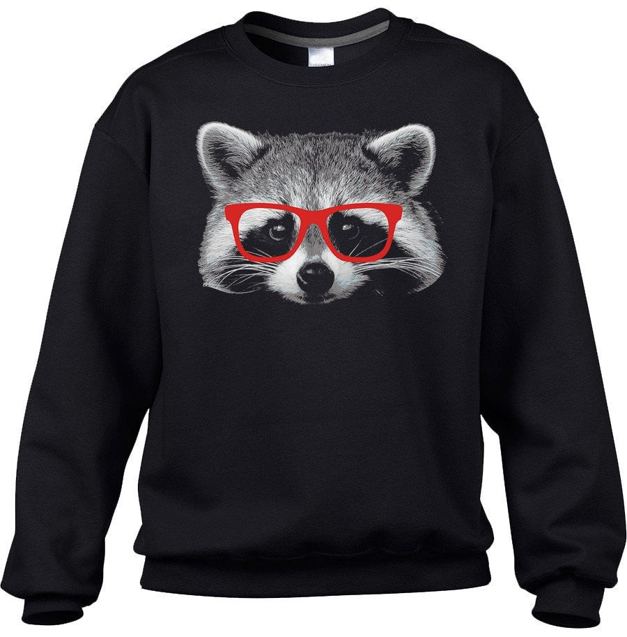 Unisex Raccoon With Glasses Sweatshirt