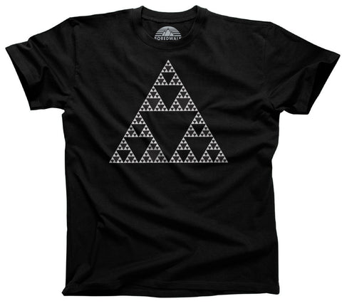 Men's Sierpinski Triangle Fractal T-Shirt