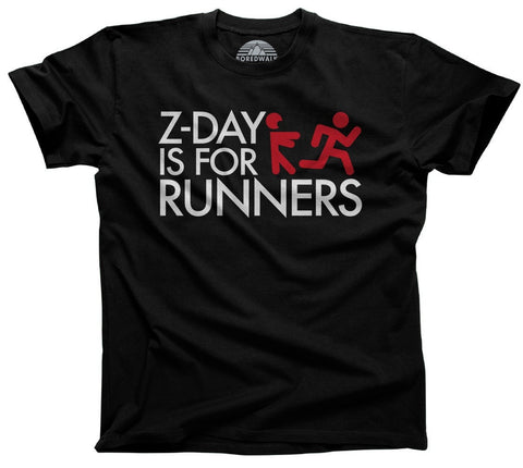 Men's Z Day Is For Runners T-Shirt Zombies Runner Shirt