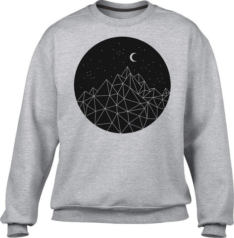 Unisex Geometric Night Sweatshirt