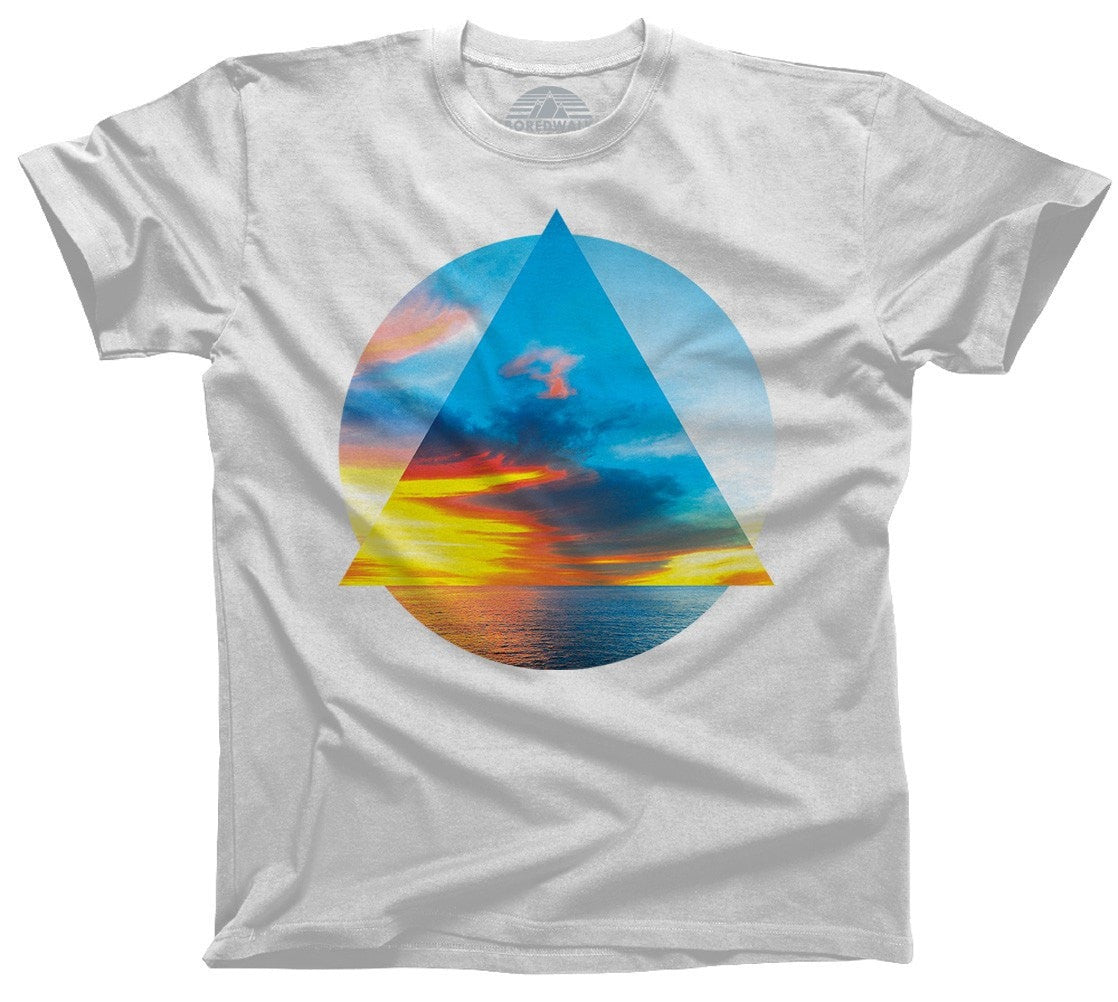 Men's Geometric Beach T-Shirt