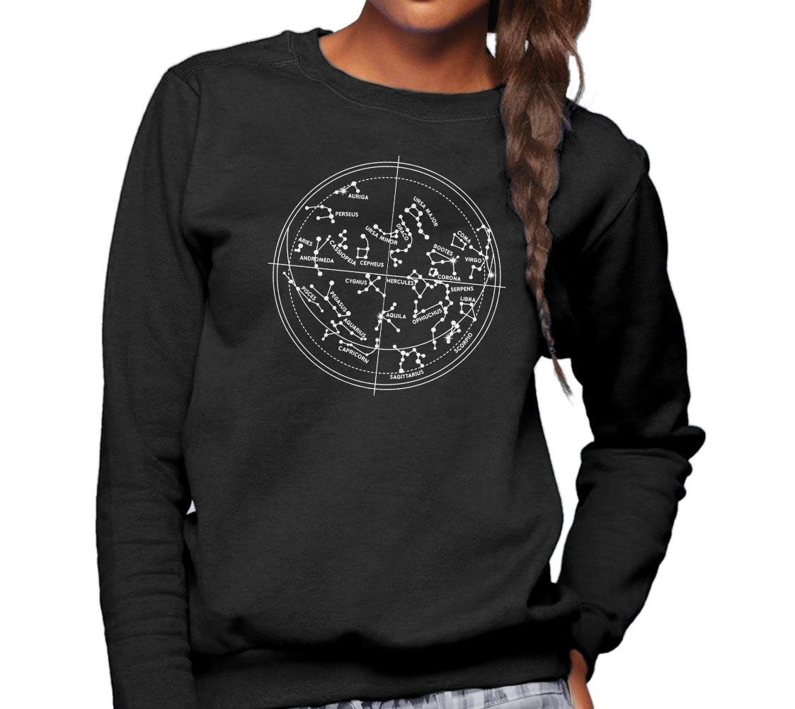 Unisex Constellation Map Sweatshirt Astronomy Sweatshirt