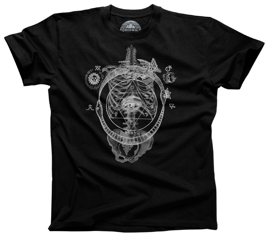 Men's Skeletal Alchemy Collage T-Shirt