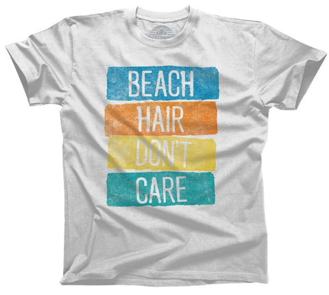 Men's Beach Hair Don't Care T-Shirt Summer Vacation