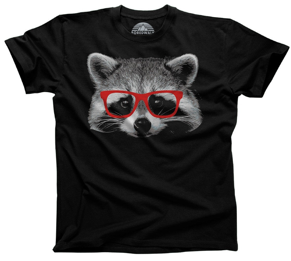 Men's Raccoon With Glasses T-Shirt