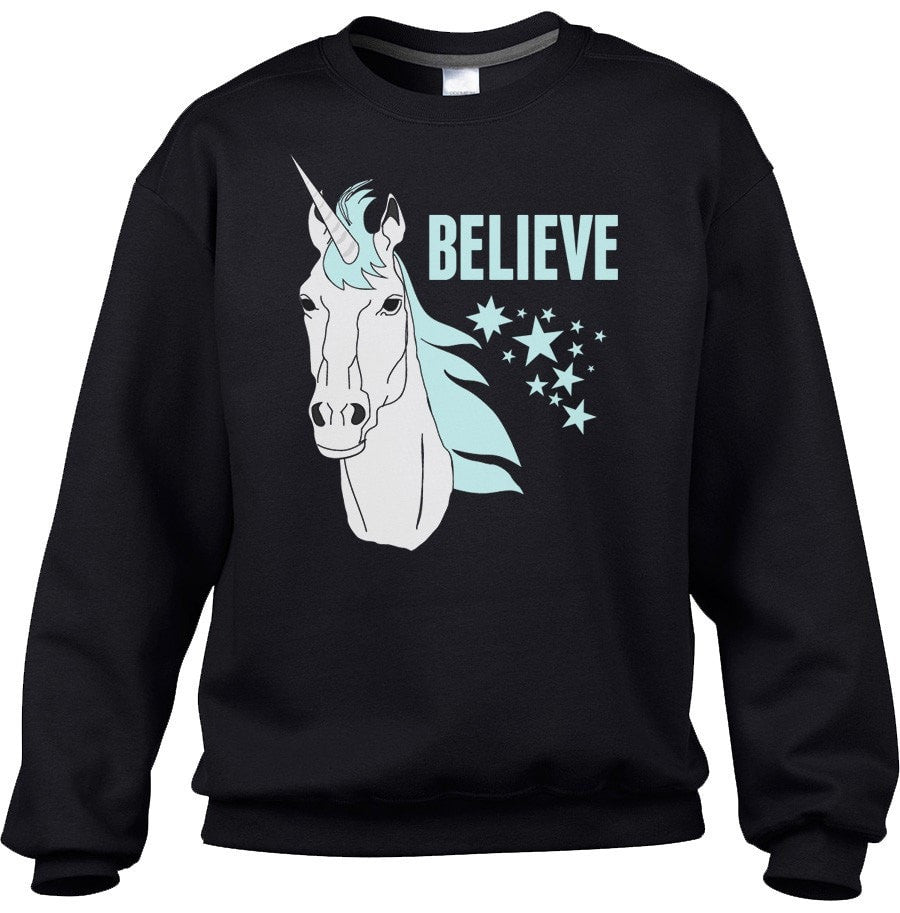 Unisex Believe In Unicorns Sweatshirt