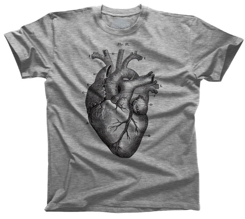 Men's Heart Anatomy Diagram T-Shirt