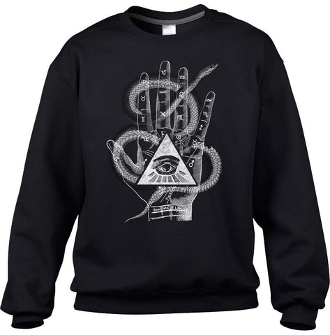 Unisex Palmistry Gypsy Collage Sweatshirt