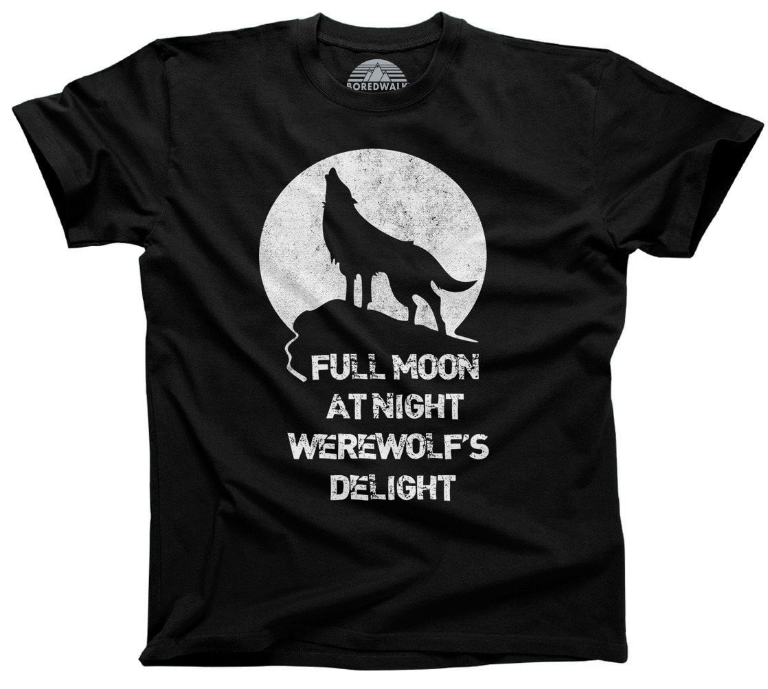 Men's Full Moon At Night Werewolf's Delight T-Shirt