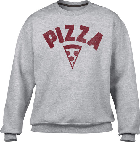 Unisex Team Pizza Sweatshirt Vintage Retro Athletic Logo Inspired