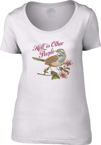 Women's Hell is Other People Scoop Neck Shirt Jean-Paul Sartre