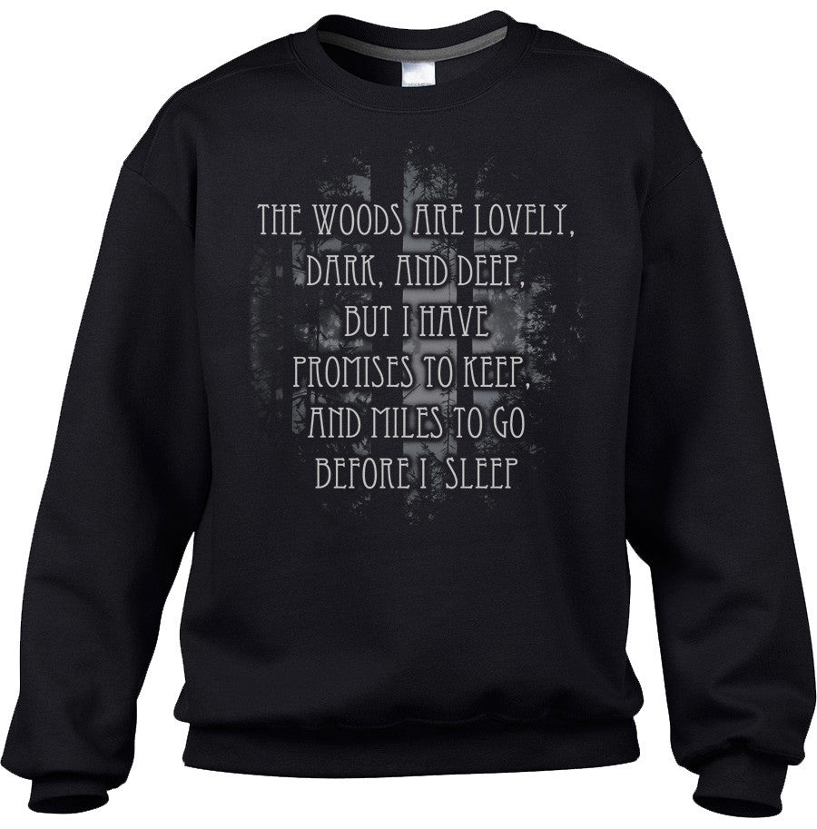 Unisex Stopping By Woods On A Snowy Evening Robert Frost Sweatshirt
