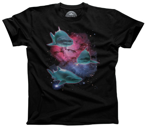 Men's Sharks In Space T-Shirt