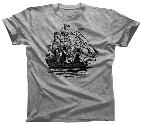 Men's Vintage Pirate Ship T-Shirt