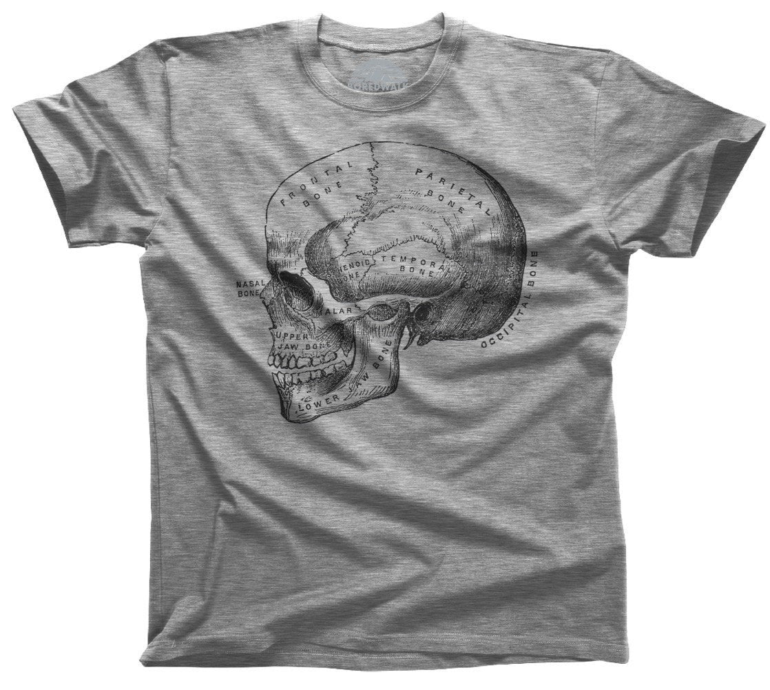 Men's Skull Anatomy Diagram T-Shirt