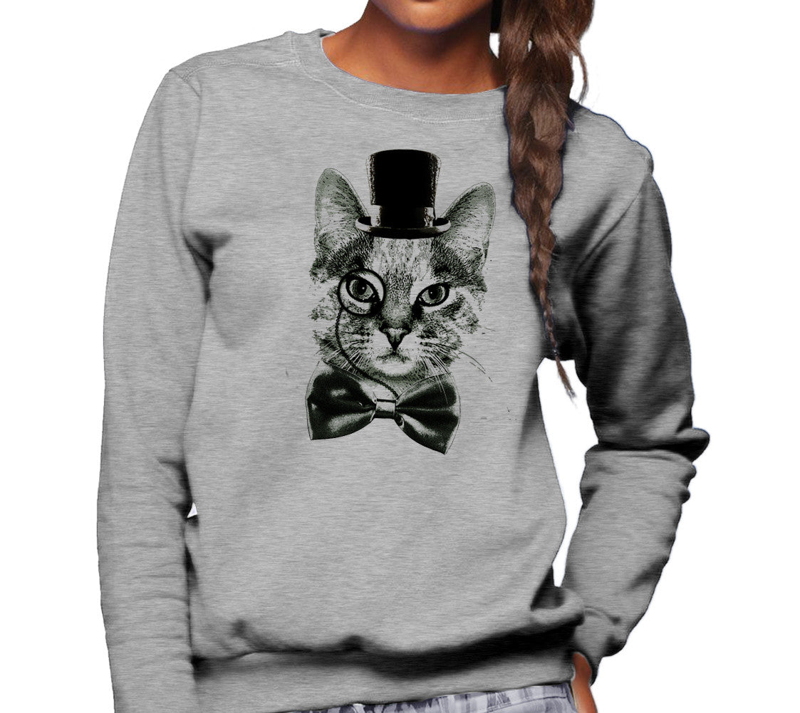 Unisex Steampunk Cat Sweatshirt
