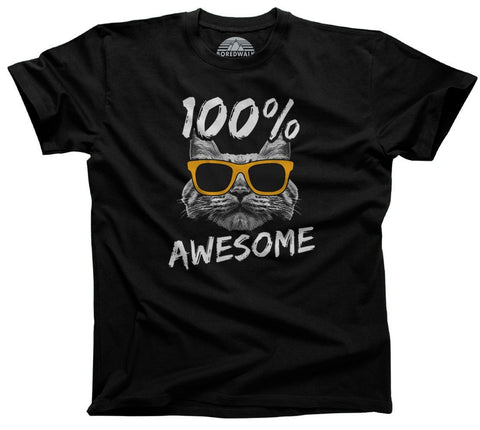 Men's 100% Awesome Cat T-Shirt