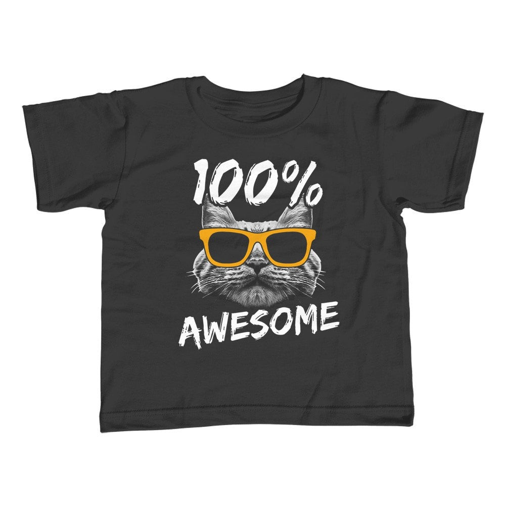 Boy's 100% Awesome Cat T-Shirt