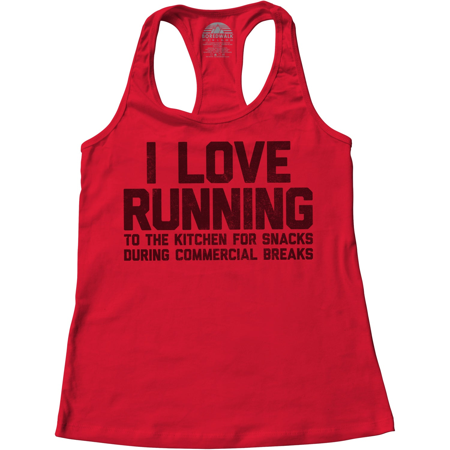 Women's I Love Running to the Kitchen for Snacks Racerback Tank Top