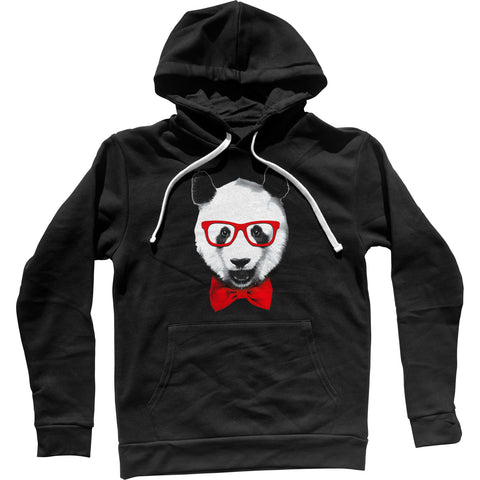 Fancy Panda With Glasses Unisex Hoodie