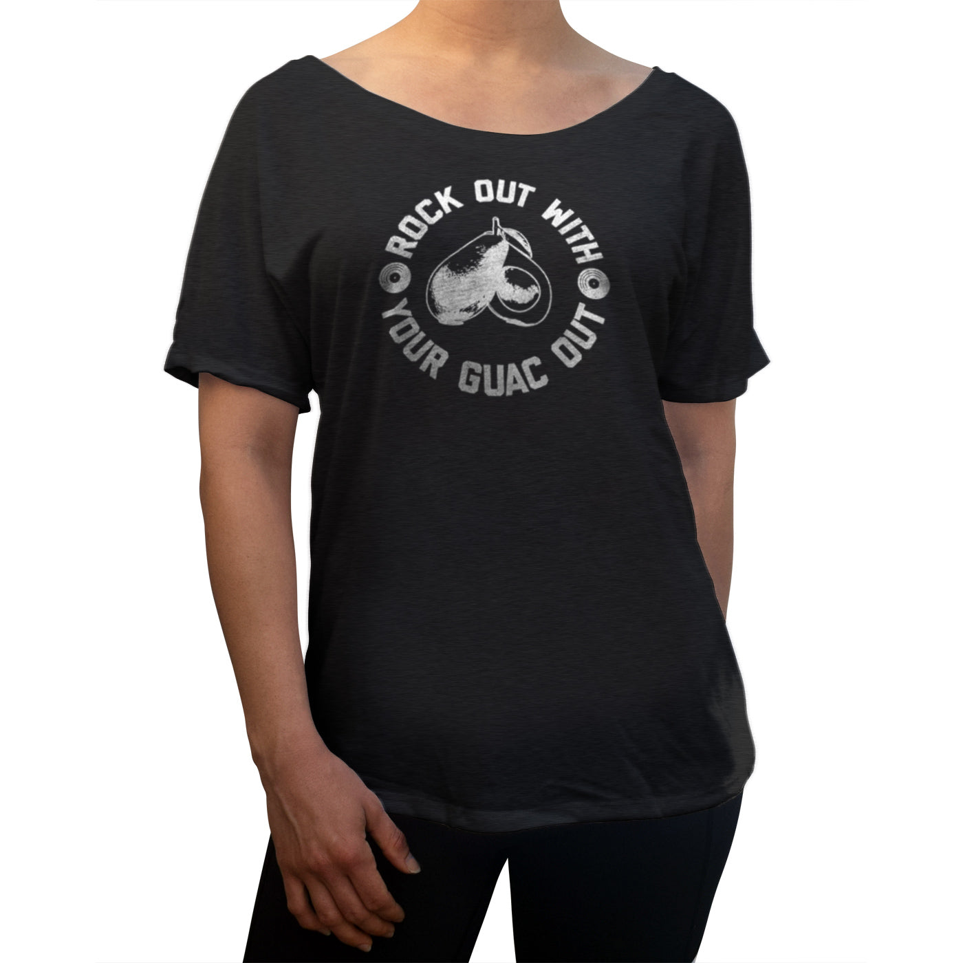Women's Rock Out With Your Guac Out Guacamole Scoop Neck T-Shirt