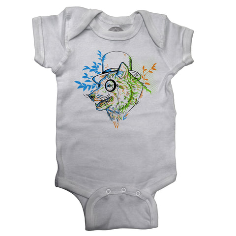 Steampunk Wolf Infant Bodysuit - Unisex Fit