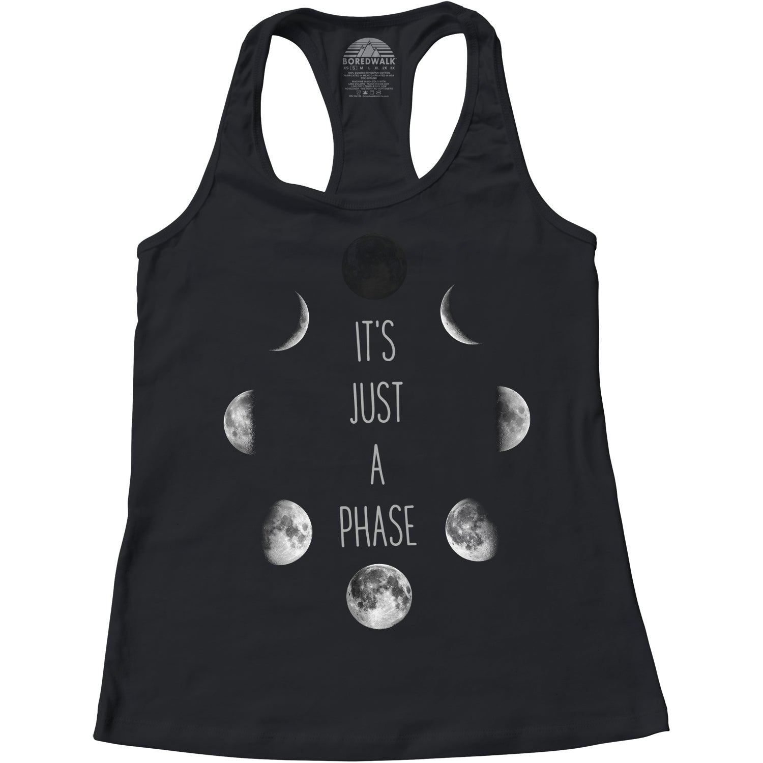 Women's It's Just a Phase Moon Racerback Tank Top