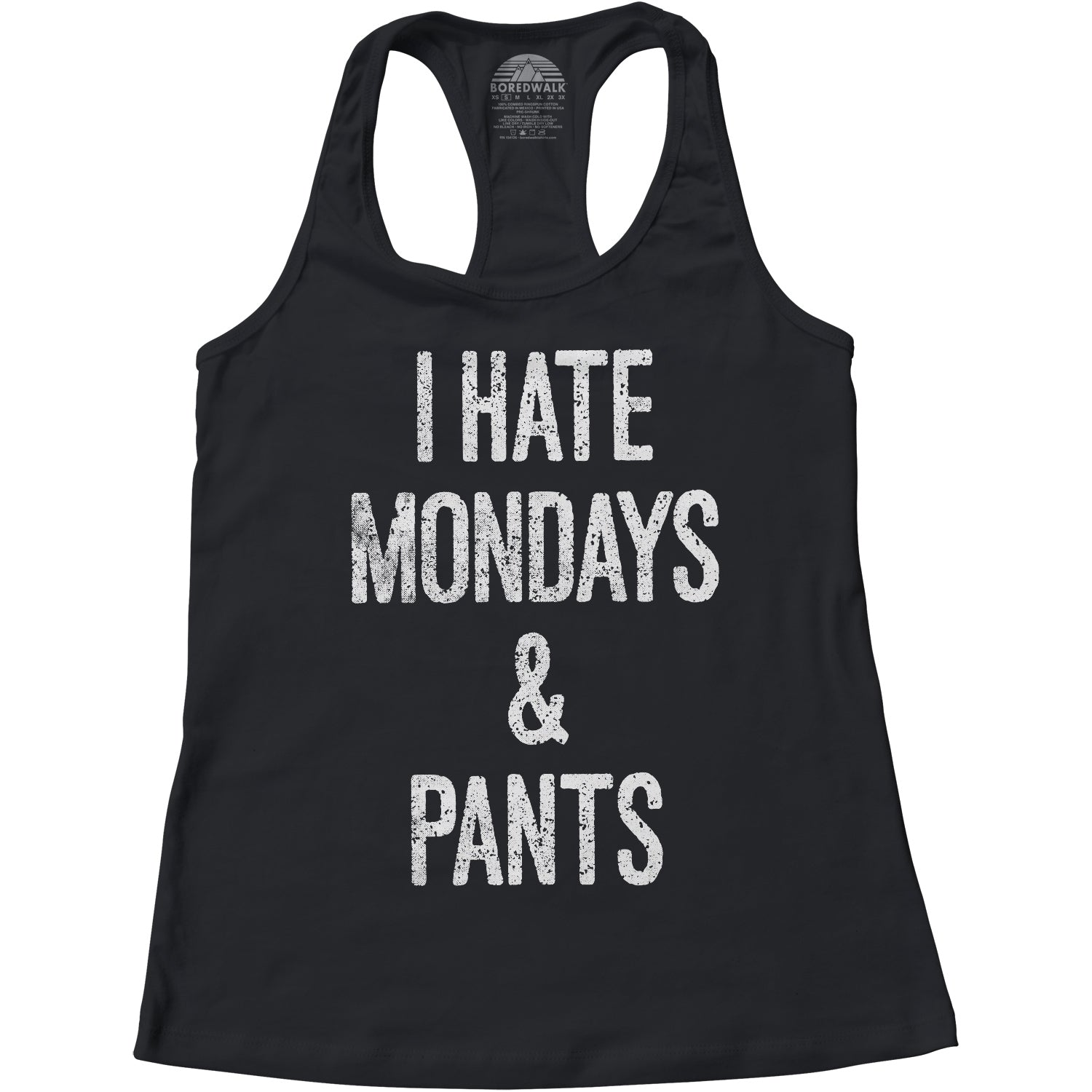 Women's I Hate Mondays and Pants Racerback Tank Top