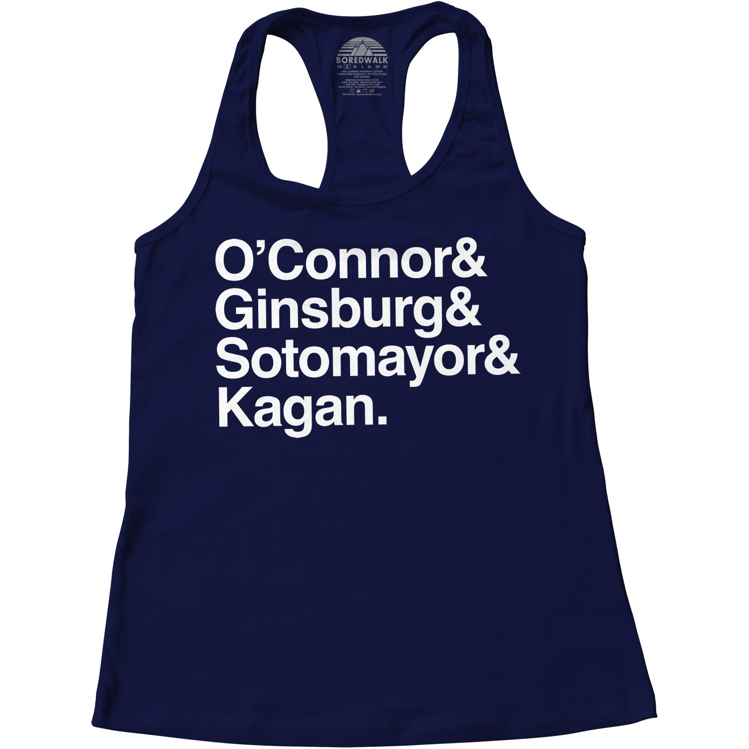 Women's O'Connor Ginsburg Sotomayor Kagan Racerback Tank Top