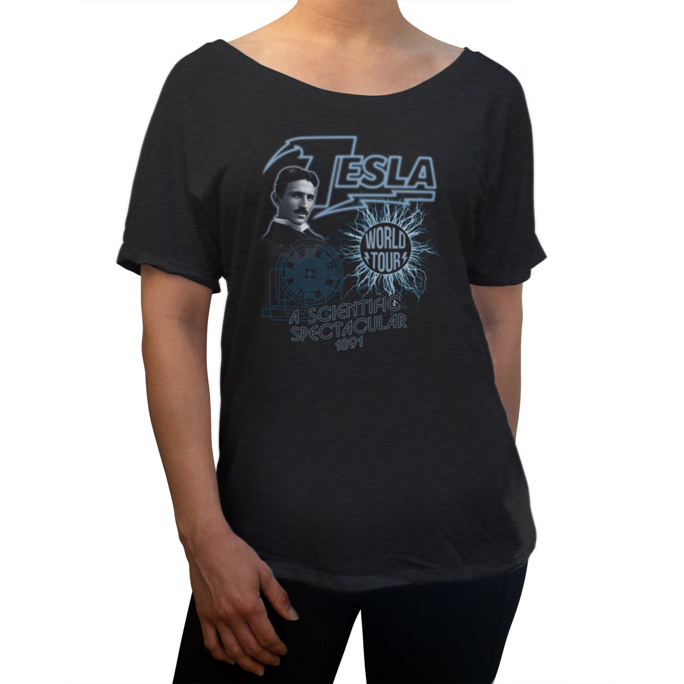 Women's Nikola Tesla World Tour Scoop Neck T-Shirt