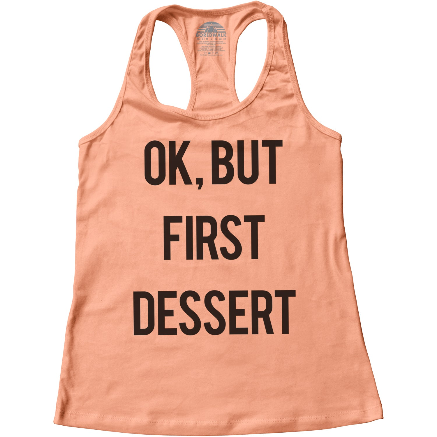 Women's OK But First Dessert Racerback Tank Top