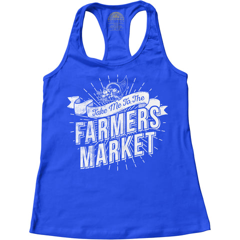 Women's Take me to the Farmers Market Racerback Tank Top
