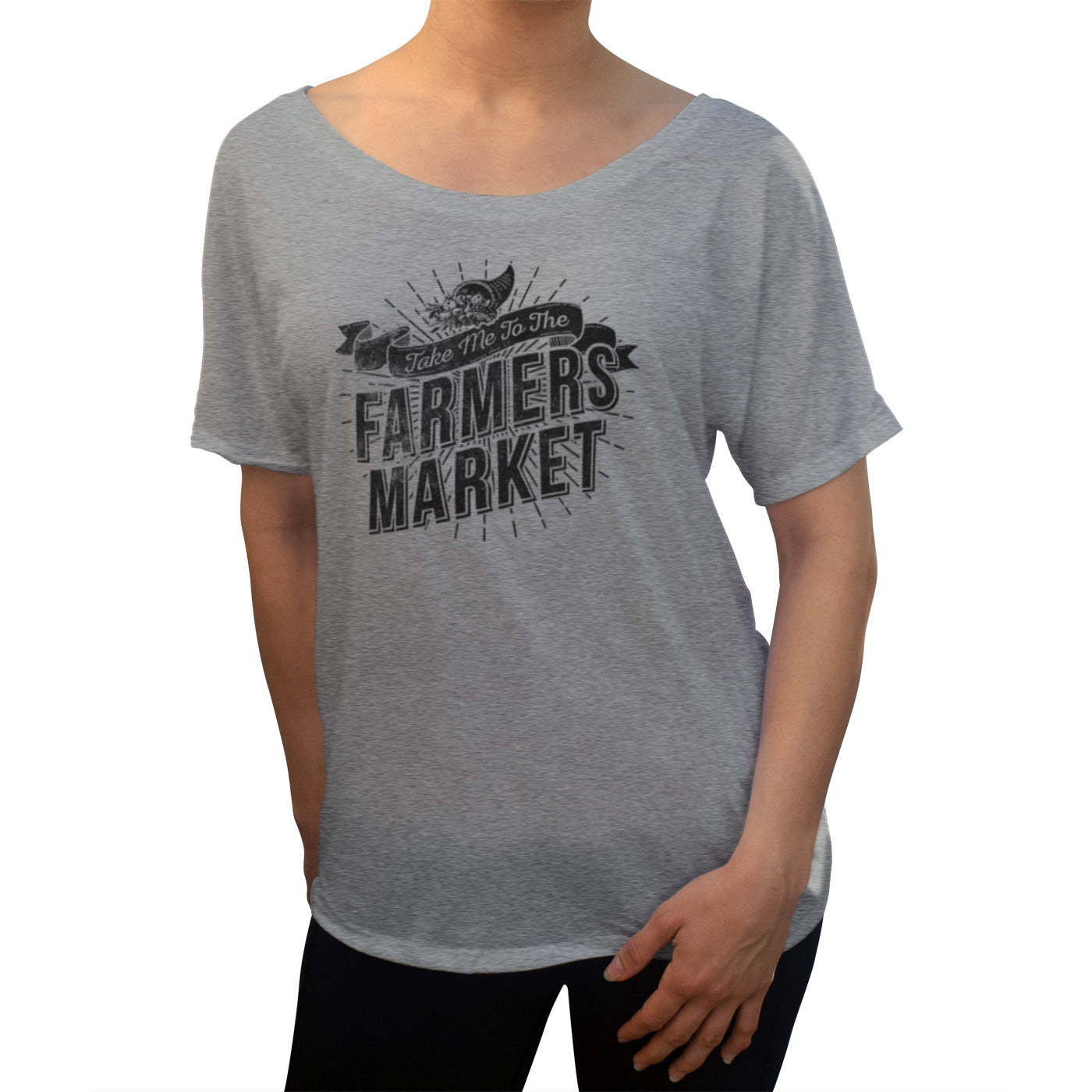 Women's Take me to the Farmers Market Scoop Neck T-Shirt