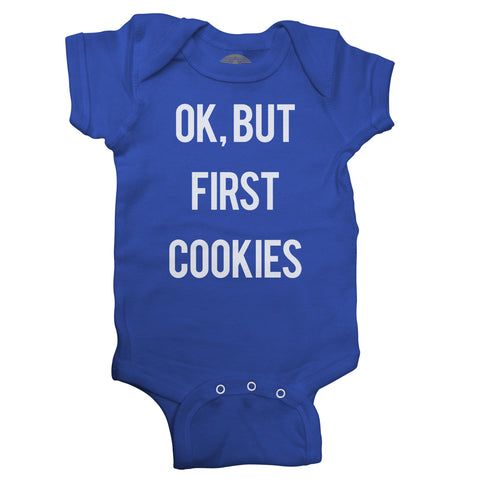 OK But First Cookies Infant Bodysuit - Unisex Fit